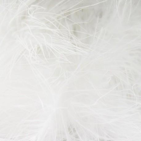 Angel hair feathers braid trimming ribbon x 30cm - white