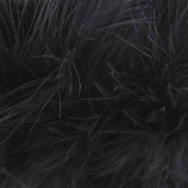 Galon Plumes cheveux d'ange noir x 30cm
