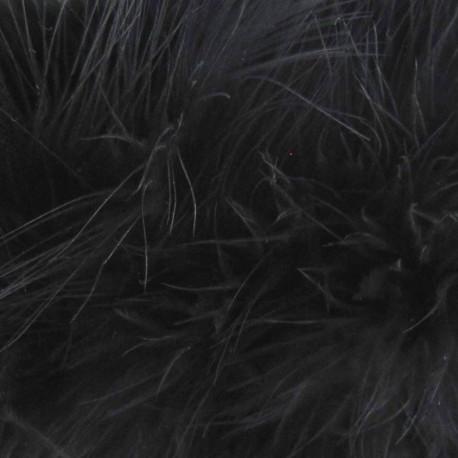 Angel hair feathers braid trimming ribbon x 30cm - black