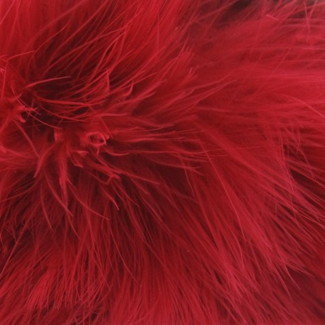 Angel hair feathers braid trimming ribbon x 30cm - red