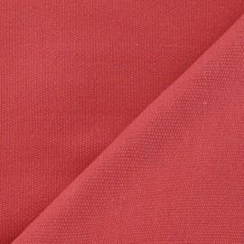Tissu coton tissé Joséphine corail x 10cm