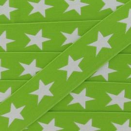 Elastique plat Anis Étoiles blanches 40mm