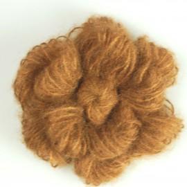 Mohair flower brooch - brown