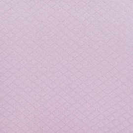 Tissu piqué Losange rose x 10cm