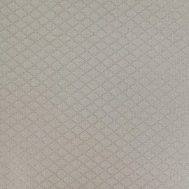 Tissu piqué Losange stone x 10cm