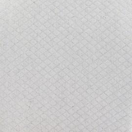 Tissu piqué Losange lin x 10cm