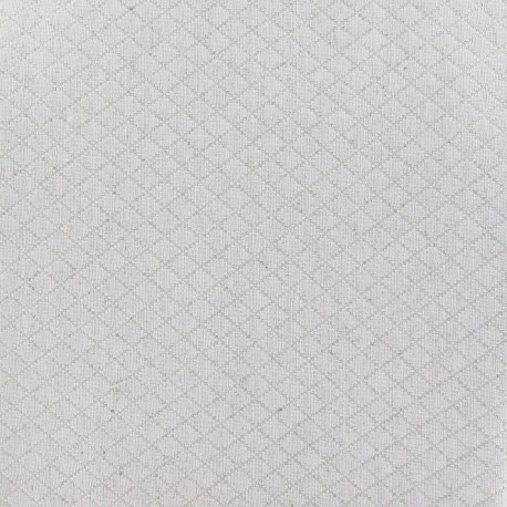 tissus pas cher tissu piqu losange lin. Black Bedroom Furniture Sets. Home Design Ideas