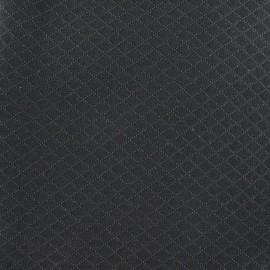 Tissu piqué Losange anthracite x 10cm