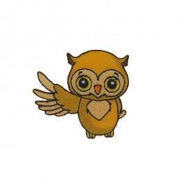 Mimi Owl iron-on applique - yellow