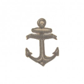 Anchor iron-on applique - beige/white