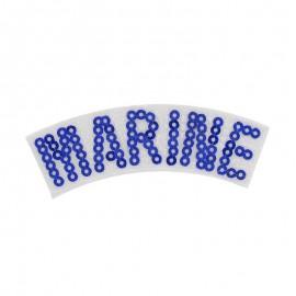 """Thermocollant Pailleté """"Marine"""""""
