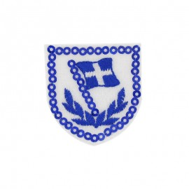 Thermocollant Pailleté badge drapeau