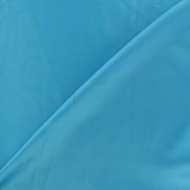 Tissu satin touché soie turquoise x 50cm