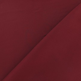 Tissu satin touché soie bordeaux x 50cm