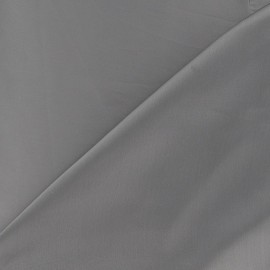 Tissu satin touché soie gris x 50cm