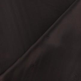 Tissu satin touché soie marron x 50cm