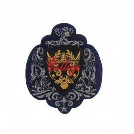 Coat-of-arms College iron-on applique - navy