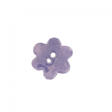 Ceramic button, big flower - lavender