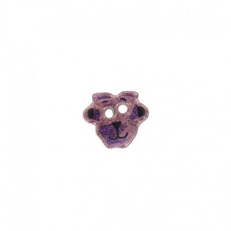 Bouton céramique mouton violet