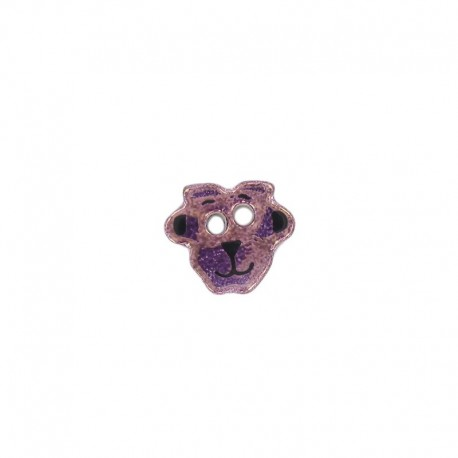 Ceramic button, sheep - purple