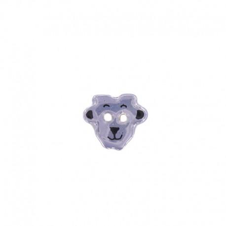 Ceramic button, sheep - lavender