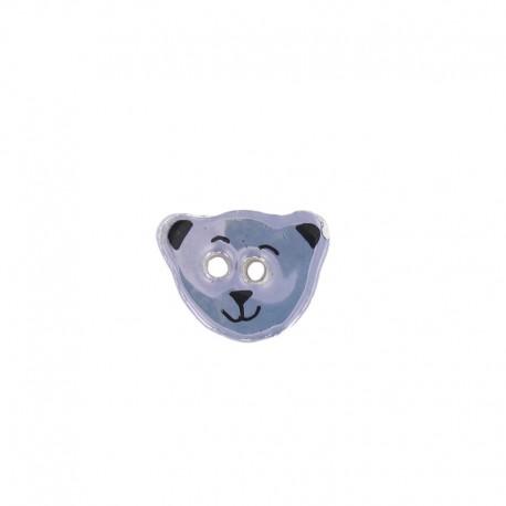 Ceramic button, teddy bear - lavender