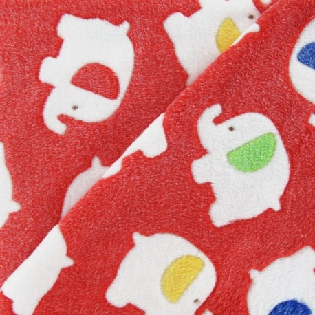 Baby's Security Blanket elephant fabric - red x 10cm