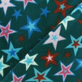 Tissu Doudou Magic stars paon x 10cm