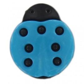 Bouton polyester Coccinelle bleu