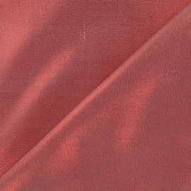 Satin Lamé Fabric - Red x 10cm