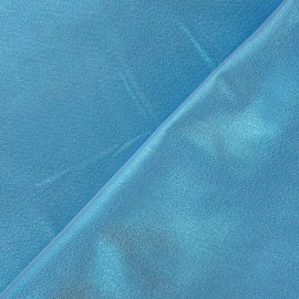 ♥ Coupon 80 cm X 140 cm ♥ Tissu lamé satin turquoise