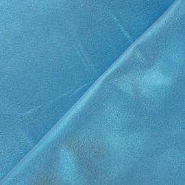 Tissu lamé satin turquoise x 10cm