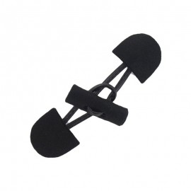 Felt-fabric Toggle duffle fastener with a small log - black