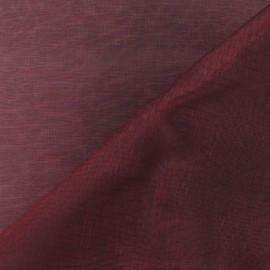 Tissu Organza bourgogne x 50cm