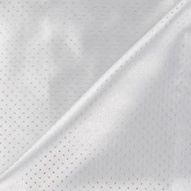 Tissu lamé point argent x 10cm
