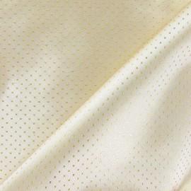 Tissu lamé point doré x 10cm