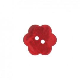 Bouton fleur nacre rouge