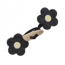 Brandebourg Feutrine Fleur Noir