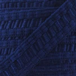 Soutache stitched gimp braid trimming - navy