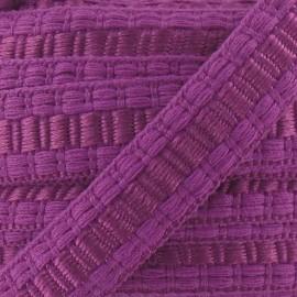 Soutache stitched gimp braid trimming - lilac