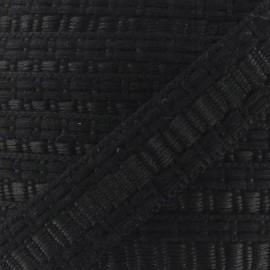 Soutache stitched gimp braid trimming - black