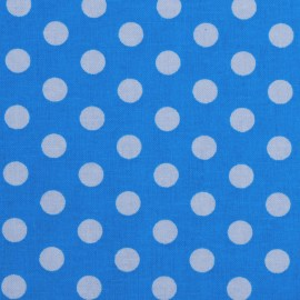 Dots Fabric - Turquoise x 10cm