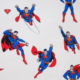 Cotton fabric Superman - cream x 63cm