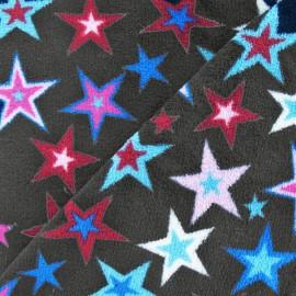 Tissu Doudou Magic stars gris x 10cm