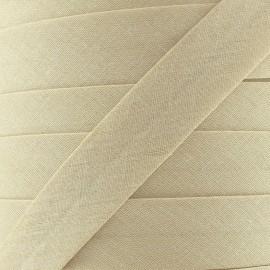 Biais Tout Textile beige 20 mm
