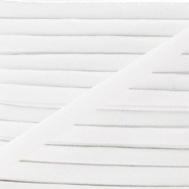 Cordon Maillot de Bain Uni - Blanc x 1m
