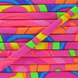 Spaghetti Elastic Cord 5mm - Fluorescent Pink/multicolored