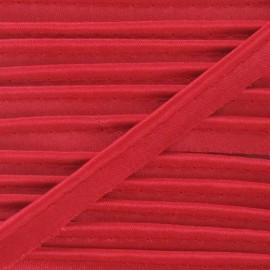 Passepoil aspect satiné rouge