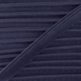 Satiny Piping - Navy