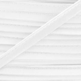 Passepoil aspect satiné blanc